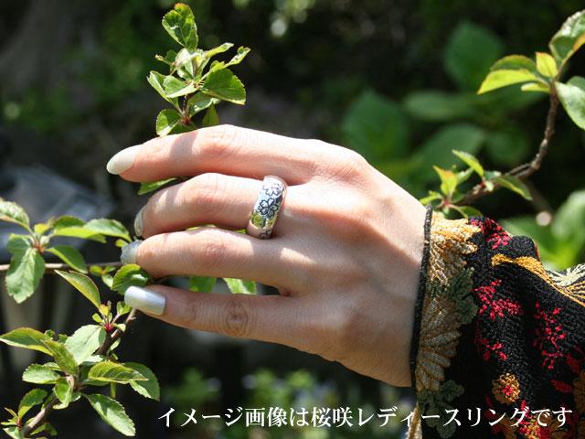 『桜咲』シルバーリング/ロイヤルブルームーンストーン